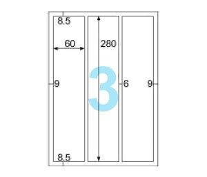 ヒサゴ OPS3032 強粘着ラベル(ダンボール用)A4/縦3面 角丸(20シート入)