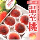温室桃(約1kg)山梨産 ハウス栽培 秀品 ギフト 桃 もも 送料無料