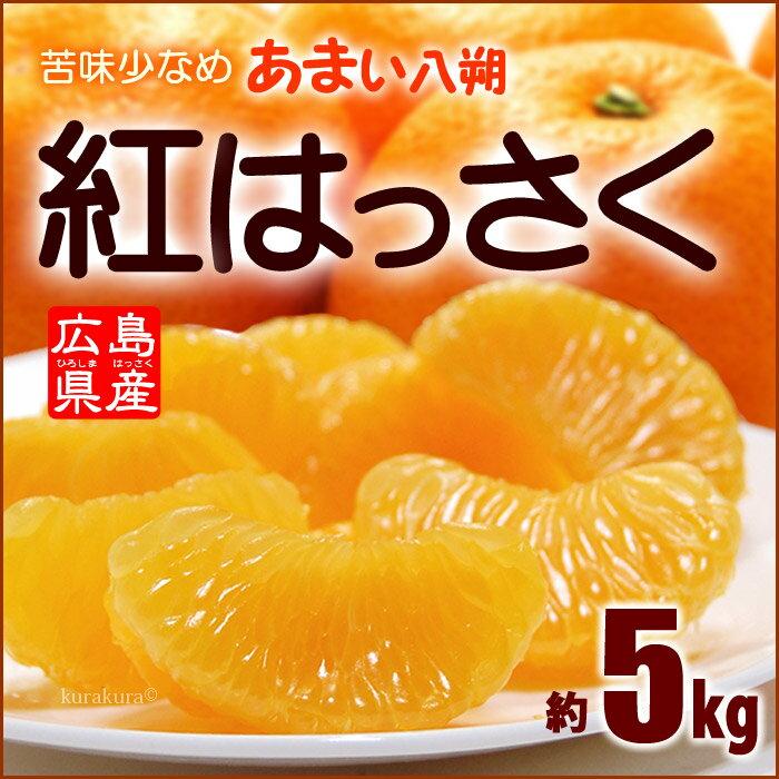 紅八朔(2-3L/5kg)広島産 はっさく ハッサク 瀬戸田 因島 送料無料