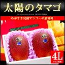 太陽のタマゴ(4L×2玉)宮崎産 宮崎マンゴーの最高峰ブランド 糖度15度以上