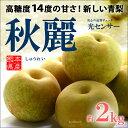 秋麗梨(6玉前後/2kg)熊本産 青梨の新品種 高糖度和梨 送料無料