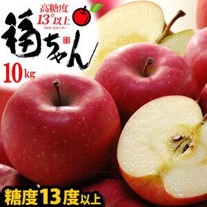 サンふじ 福ちゃんりんご(約10kg)青森産 サンふじりんご 特秀 糖度14度以上選果 大玉 ギフト 贈答用 高級 サンフジりんご さんふじりんご リンゴ 林檎 食品 フルーツ 果物 りんご サンふじ 高