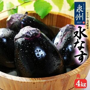 ハウス栽培 泉州水なす A/B秀ランク(約4kg)大阪産 大阪泉州の伝統野菜 水茄子 送料無料