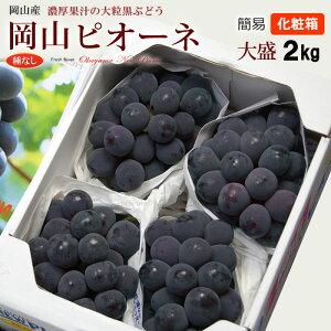 岡山ニューピオーネ(約2kg)岡山産 秀品 贈答用 ピオーネ 種無し ぶどう お中元 食品 フルーツ 果物 ブドウ 送料無料