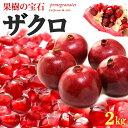 ザクロ(5-6玉/2kg前後)アメリカ産 ざくろ 柘榴 石榴 青果 食品 フルーツ 果物 ザクロ 送料無料