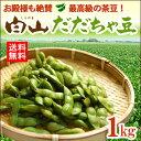 白山だだちゃ豆(1kg)山形鶴岡産 香ばしい独特な旨味が人気の枝 えだまめ 茶豆 産地直送 送料無料