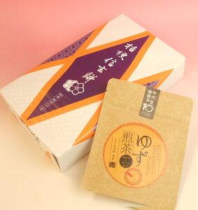 桔梗信玄餅10個入りとゆず煎茶(甲州南部茶)