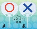 ○×うちわ 丸柄 ポリまるばつ団扇