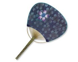 【名入れ印刷 50本】 竹 うちわ 平柄 夜桜 団扇 KG-105