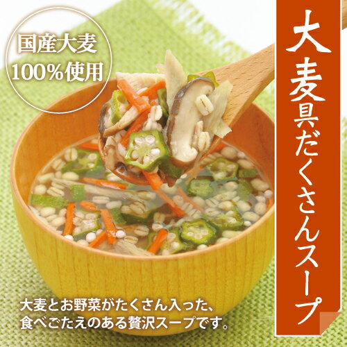 【大麦工房ロア直営店】【国産大麦100%】大麦具だくさんスープ