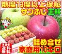 【11月下旬より順次発送】早割りんごの本場青森県から産地直送糖度13度「サンふじ王林」詰め合わせ【家庭用10キロ】内…