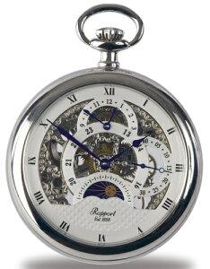 ラポート 懐中時計 提げ時計 スケルトンポケットウオッチ(手巻 / イギリス)送料無料