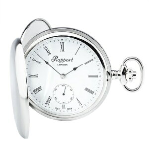 ラポート 懐中時計 メカニカル スケルトン ポケットウオッチ 手巻 イギリス 送料無料