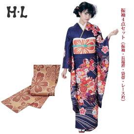 振袖4点セット(振袖・長襦袢・袋帯・レース衿) ブランド H・L(アッシュエル) No.10