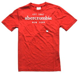 アバクロ / abercrombie&fitch ◆正規品・本物◆キッズ Tシャツ◆Sサイズ◆レッド【あす楽対応】【正規品】