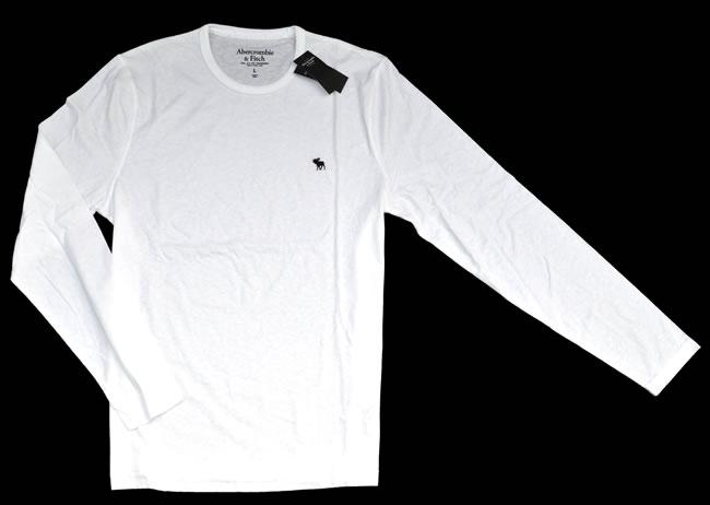 アバクロ / abercrombie&fitch ◆正規品・本物◆メンズロングTシャツ ◆ホワイト