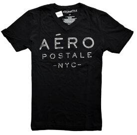 エアロポステール / Aeropostale ◆正規品・本物◆メンズTシャツ◆Sサイズ◆ブラック【あす楽対応】【正規品】
