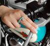 铬铬心 ◆ 绿松石纯银 + 跨环 4 毫米珠 X
