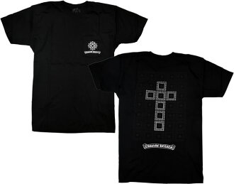 Chrome / CHROME HEARTS [free shipping] ◆ mens short sleeve T shirt ◆ XL ◆ Black/Silver