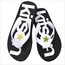 f1a431b0ad8 Sold Out · ☆ Kitson  M Beach Sandals (black x white)