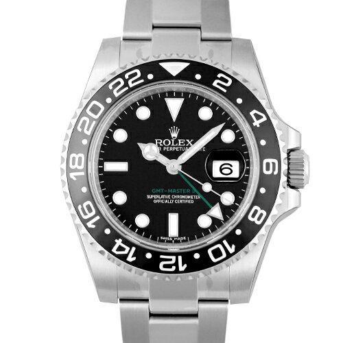 ロレックス ROLEX GMTマスターII 116710LN SS 40mm 黒 ブラック 【送料無料】【新品】【メンズ】【腕時計】 【本店_S2212】