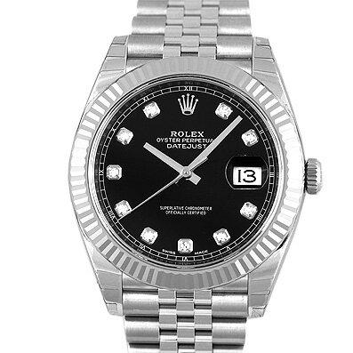 ロレックス ROLEX デイトジャスト41 126334G WG×SS 41mm ブラック【送料無料】【新品】【メンズ】【腕時計】 【本店_C4414】