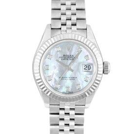 ロレックス ROLEXデイトジャスト28 10Pダイヤ279174NG WG×SS28mm ホワイトシェル文字盤【送料無料】【新品】【レディース】【腕時計】【本店_C5650】