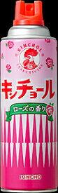 【送料無料・一部地域除】【まとめ買い5本】キンチョール ローズの香り 450ml
