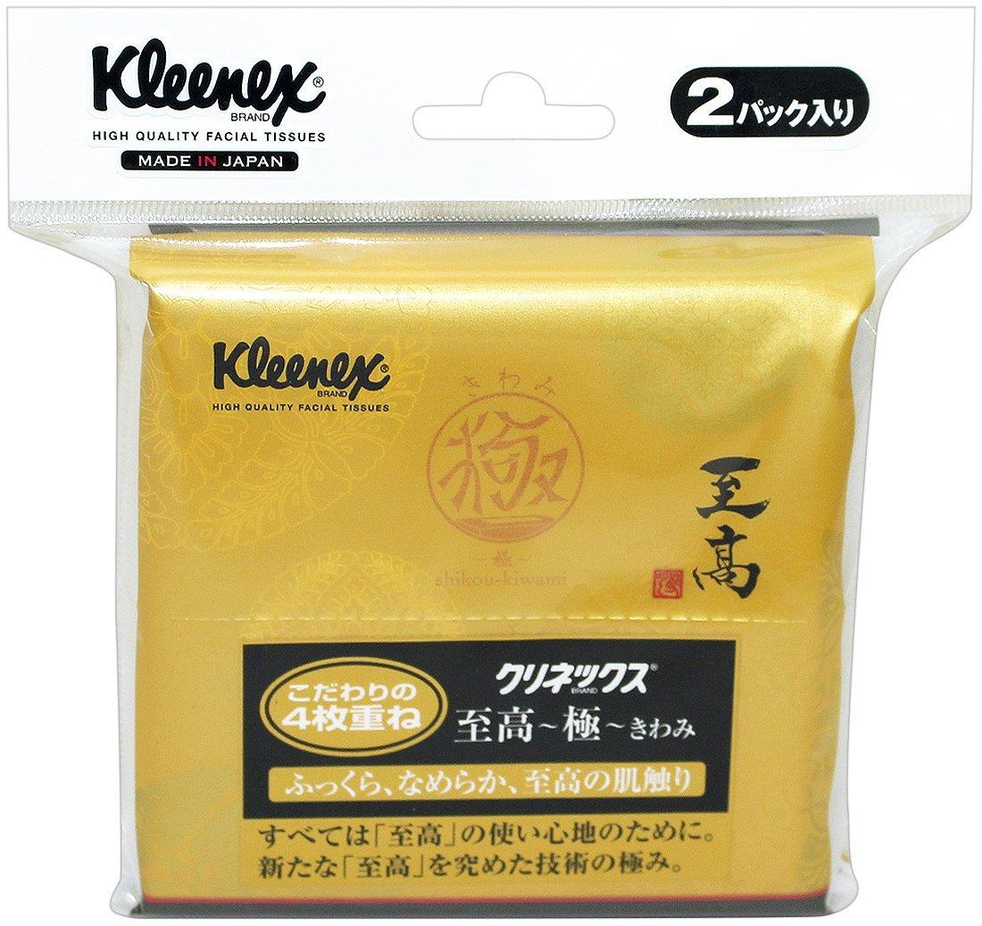 日本製紙クレシア クリネックス ティシュー 至高 極(きわみ) ポケット 4枚重ね 12組×2コパック入り