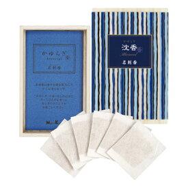 日本香堂 かゆらぎ 沈香 名刺香 桐箱6入