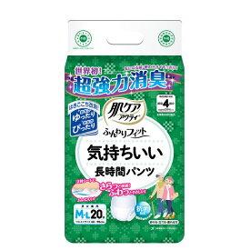 日本製紙クレシア 肌ケアアクティ ふんわりフィット 気持ちいい長時間パンツ M-L(20枚入)