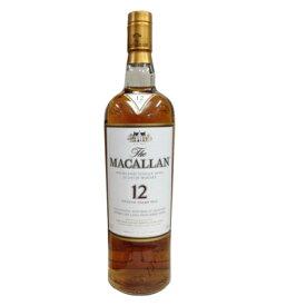 ウイスキー 酒 お酒 ギフト プレゼント 贈り物 マッカラン 12年  【 シェリーオーク 】 700ml 正規  高級 おすすめ 人気 家飲み