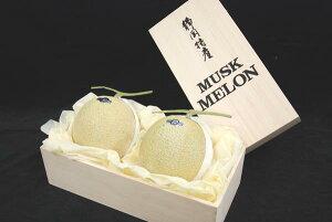 【静岡産】 マスクメロン  トロトロ果肉の極上品! (2玉) ギフトにも最適な高級なメロン! 【RCP】