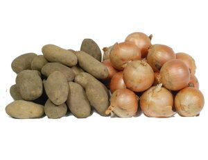 〔お徳用〕 北の大地から! 北海道 たまねぎ 3kg&北海道 メークイン 3kg(玉葱・じゃがいもセット) ≪根物セット≫