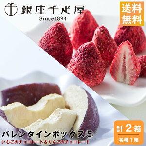 「銀座千疋屋」 バレンタインBOX(5)プレゼント いちごのチョコレート りんごのチョコレート バレンタイン ホワイトデー ギフト