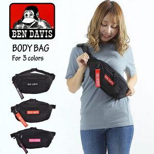 【メール便送料無料】ボディバッグ ウエストポーチ ウエストバッグ BEN DAVIS ベンデイビス 2way ボックス メンズ レディース 斜め掛け 斜めがけ ワンショルダーバッグ 黒 おしゃれ 軽量 大きめ