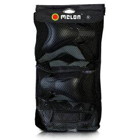 スケートボード用 Melonhelmets リフレクティブプロテクター 3点セット・ケース付きキックボード・BMX・ストライダー・子供用〜