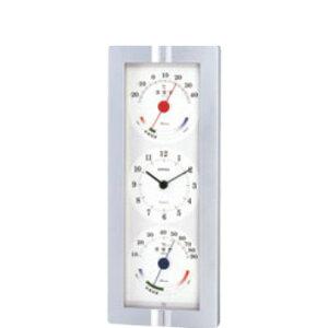 エンペックス 温湿度計付時計 ウエザータイム TQ-723【乾湿球湿度計】【温度計】【湿度計】【thermometer】【掛け時計】【掛時計】【計量器】