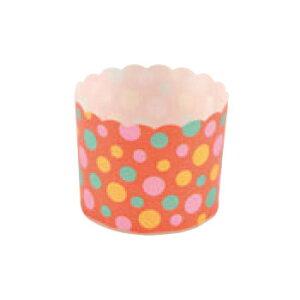 ペットマフィン(レッドドット)MS8801(100枚入)【業務用】【紙カップ】【ケーキカップ】