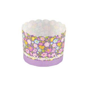 ペットマフィン(パープルフラワー)MS8806(100枚入)【業務用】【紙カップ】【ケーキカップ】