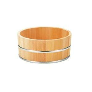 さわら 風呂桶 ステンタガ 6-481-8 φ225×115【木製湯桶】【木製洗面器】【温泉】【ホテル】【旅館】【浴室】【風呂】
