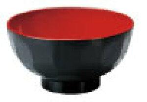 A 新4寸亀甲汁椀 黒内朱 9−104−17【茶碗】【宴会用】【汁椀】【お味噌汁用】【お吸い物用】【業務用】