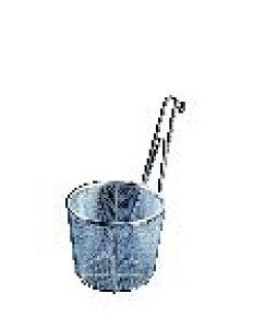 TSステンレス 共柄 平底てぼ (18-8アミ) 大【そば揚 ステンレス ラーメンてぼ】【テボ】【湯切り】【麺揚げ】【うどんてぼ】【業務用】
