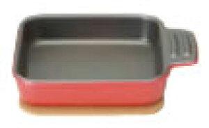 ベイクドプラスオーブントースタープレート シングルプレート レッド【ラザニアローストディッシュ】【グラタン皿】【業務用】