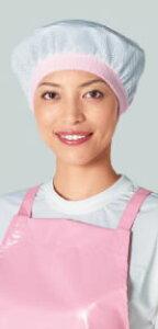 ネットバンドキャップ C1400-22 ライム【業務用綿帽】【綿帽】【衛生帽】【給食帽】【業務用】