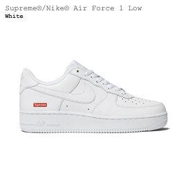 【国内配送】Nike Air Force 1 ナイキ エアフォース1 Supreme シュプリーム コラボレーションモデル ローカット スニーカー ホワイト 選べる サイズ 新品未使用 最新 人気 靴 稀少