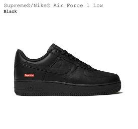 【国内配送】Nike Air Force 1 ナイキ エアフォース1 Supreme シュプリーム コラボレーションモデル ローカット スニーカー ブラック 選べる サイズ 新品未使用 最新 人気 靴 稀少
