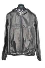 【国内配送】BERLUTI 1895 ベルルッティ レザー フーディー ブルゾン ジャケット シングル ブラック 選べるサイズ 未使用 最新 人気 稀少