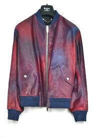 【国内配送】BERLUTI 1895 ベルルッティ レザー ハラコ ブルゾン ジャケット クレイジーカラー 46サイズ 未使用 最新 人気 稀少