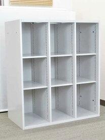 オープン書庫 キャビネット スチール棚 書棚 本棚 シューズボックス シューズロッカー【中古オフィス家具】【中古】
